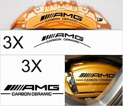 6x AMG Carbon Ceramic Bremssattel Aufkleber Sticker schwarz Mercedes Benz C63