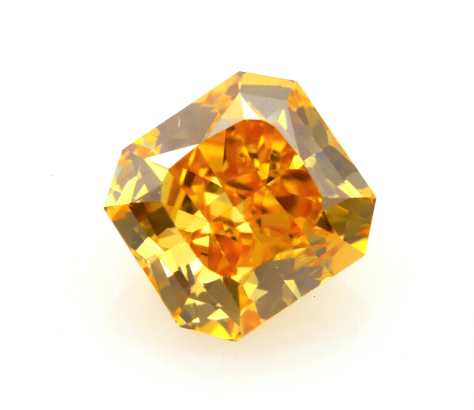 Zimi Diamond VVS2 -  0.59ct Natural Loose Fancy Vivid Orange Yellow Diamond GIA