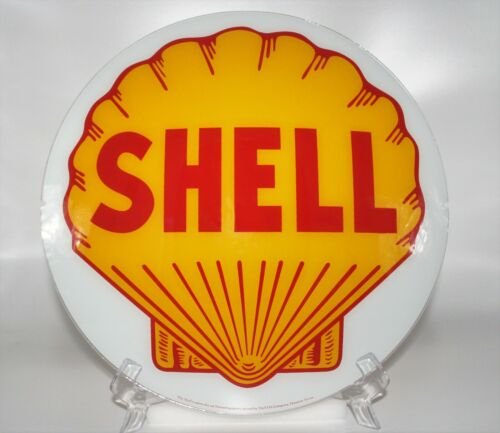 """SHELL 13.5"""" GLASS FACE for GAS PUMP GLOBE"""