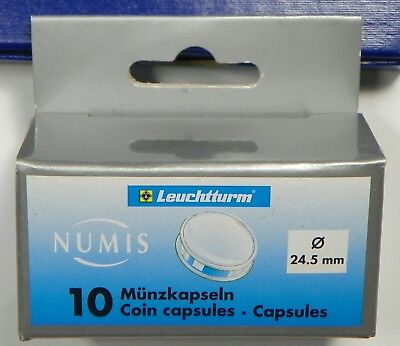 Pack of 10 Lighthouse Round 24.5 inner Diameter Coin Capsules For US Quarters