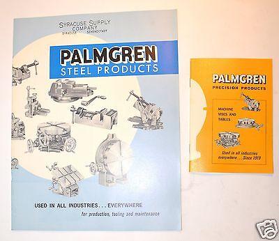2 Vintage Palmgren Precision Usa Vise Rotary Table Catalogs Rr16
