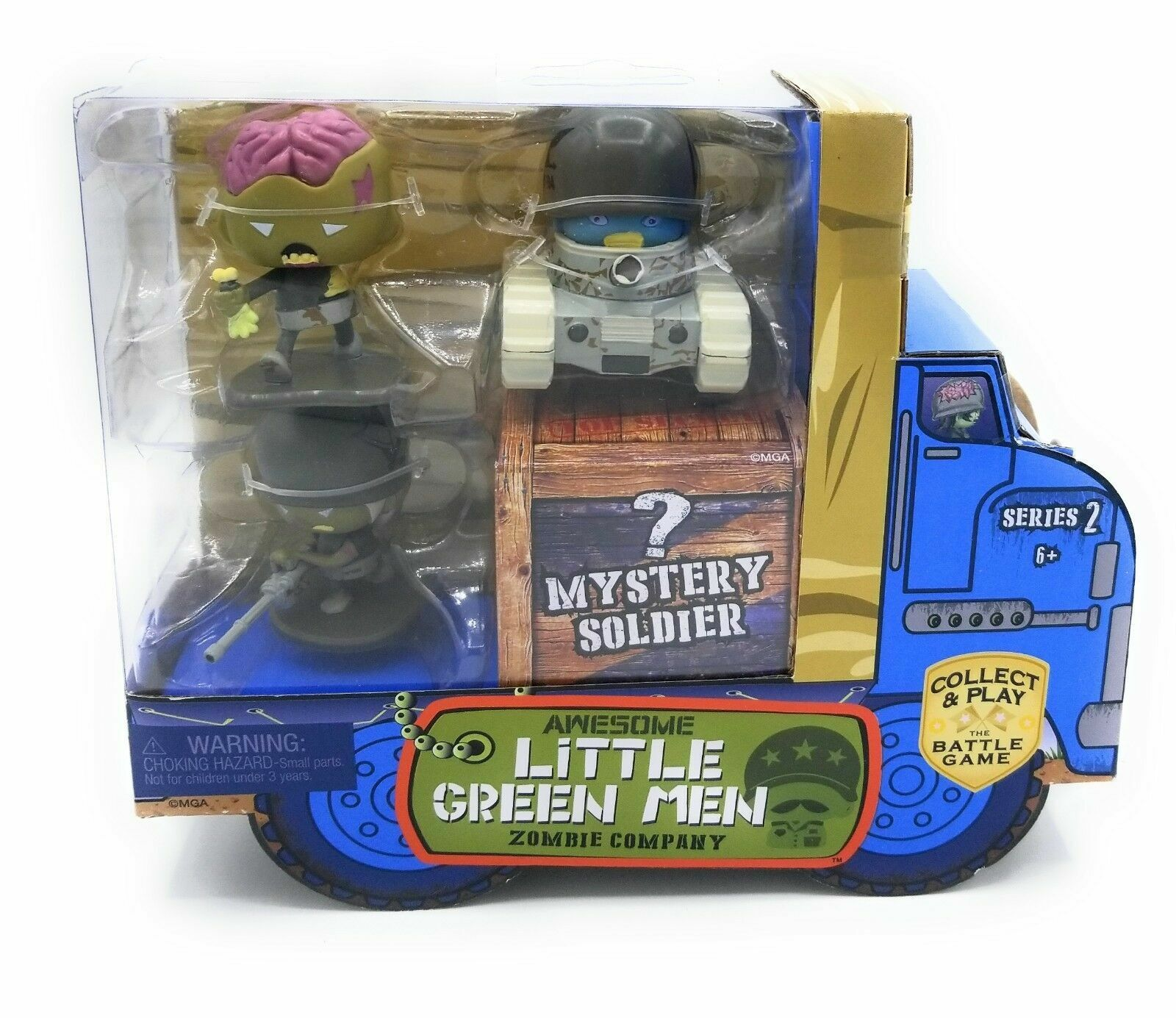 Awesome Little Green Men 4 pc Starter Pack Series 2 Zombie Company Action Figure MGA Entertainment 549901