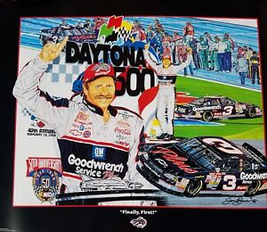 DALE EARNHARDT SR ORIGINAL POSTER BY SAM BASS