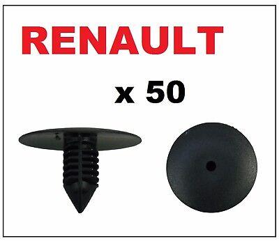 50 x Renault Wheel Arch Liner Splash Guard Lining Plastic Fir Tree Clips