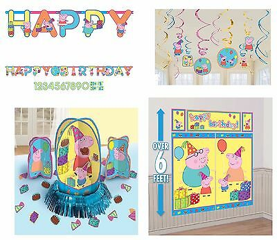 Peppa Pig Birthday Banner (New Peppa Pig Birthday Pack (Banner, Wall Poster, Swirls & Table Decor)