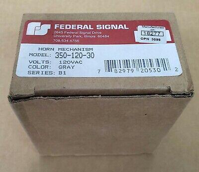 Jo Federal Signal 350-120-30 Vibratone Horn Mechanism B1 Gray 120vac New Nib