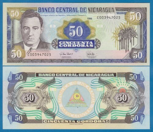 Nicaragua 50 Cordobas P 183 1995 UNC Low Shipping! Combine FREE!