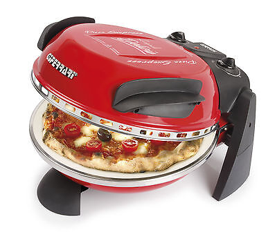 G3 Ferrari Electric Pizza Oven In Red With Stone Base 1200w FREE DELIVERY