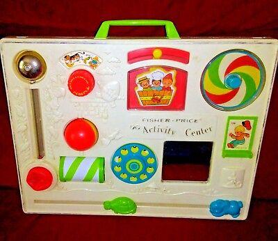 Vintage Original Fisher Price Crib Activity Center Sensory Toy 1973 Clamp Back