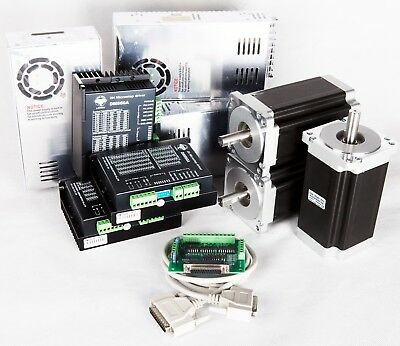 Eu Free Ship 3axis Nema34 Stepper Motor 1232oz.in 5.6adriver Cnc Kit Mill