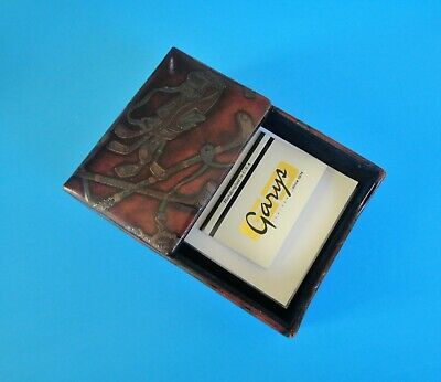 New Golf Drawing Leather Garys Desk Memo Pad Box