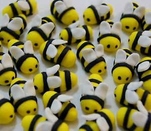 BEES-EDIBLE-CAKE-TOPPERS-X-12-2-0-2-5CM-LONG-VERY-CUTE