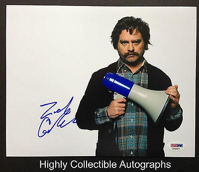 Zach Galifianakis Signed 8X10 Photo Autograph Psa Dna Coa
