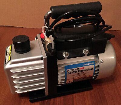 Pittsburgh Automotive 2.5 Cfm Ac Refrigeration Vacuum Pump Mint Condition