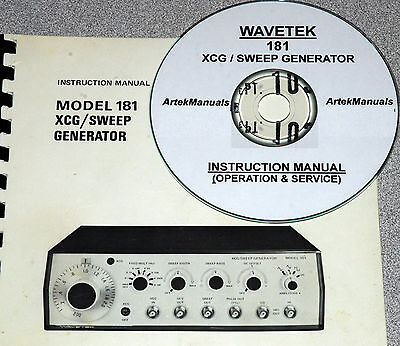 Wavetek 181 Xcg Sweep Generator Operating Service Manual
