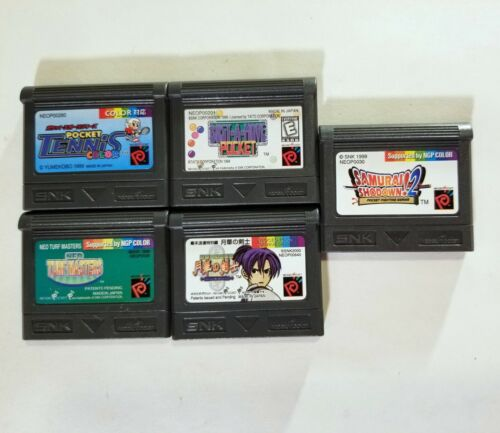 Lot of 5 Neo Geo Pocket Color Games