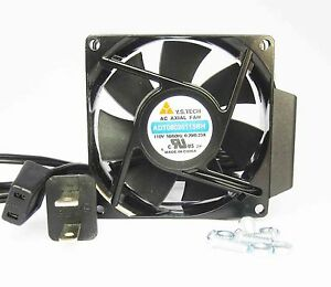 80mm 25mm New Case Cabinet Fan 110 115 120V AC 55CFM Cooling Ball 8035 354*