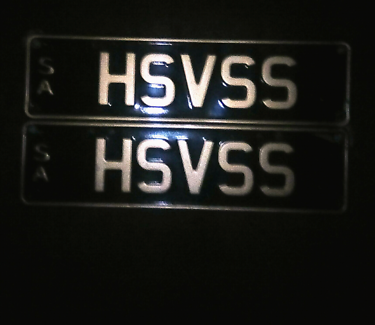 Personalized number plates