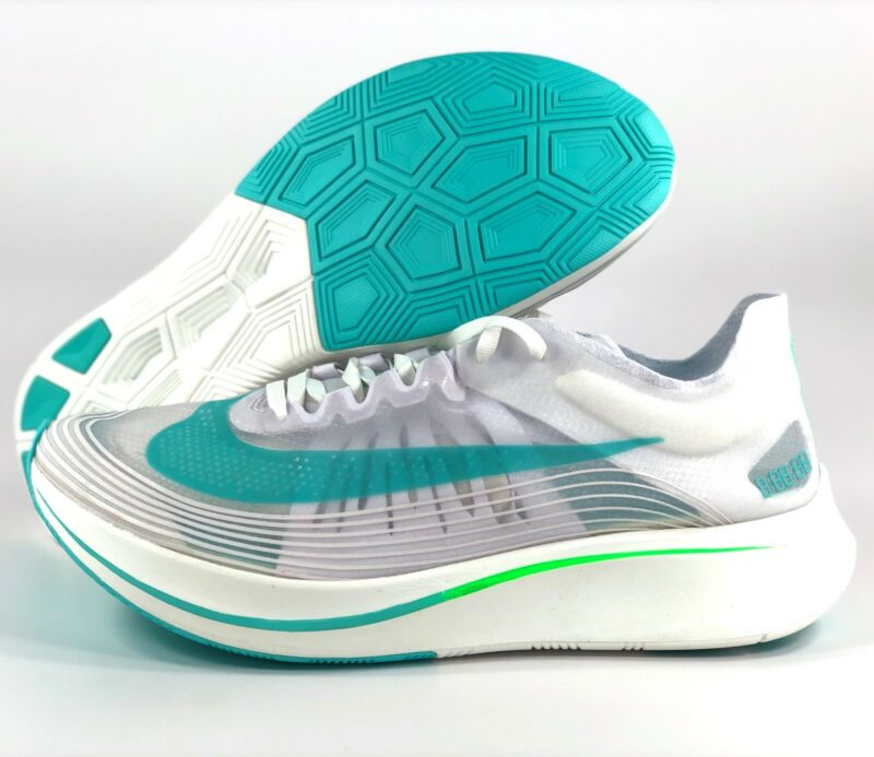 8e6fa0b5d9966 Nike Zoom Fly SP London White Rage Green Teal AJ9282-103 Men s 11-12 ...