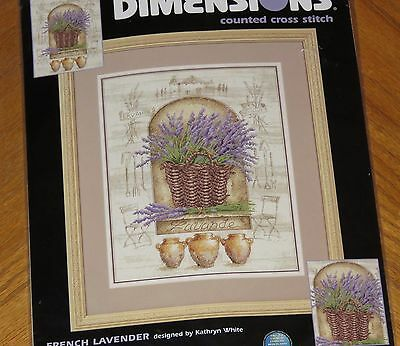 - French Lavender - Kathryn White Design 2001 Dimensions Cross Stitch Kit - Sealed