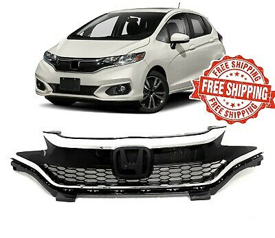 For 2018 2019 Honda Fit Grille Upper Bumper Chrome Honeycomb Front Grill