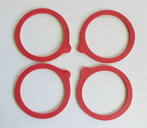 MASON BALL CANNING JAR RUBBER SEALS FOUR (4) WIDE MOUTH SIZE new