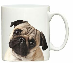 New sweet Pug face dog print mug printed cup puppy dogs gift puppies and animals