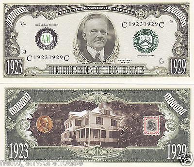 Two Calvin Coolidge 30th US President Novelty Bills # P30