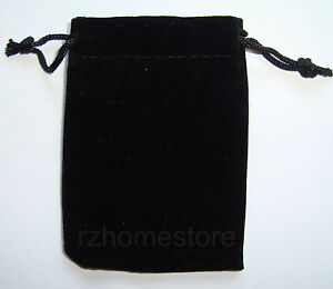 Velvet Pouch Gift Bag Small Jewellery Drawstring 5x7 7x9 10x13cm Bracelet Watch