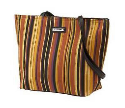 Longaberger FABRIC TOTE / PURSE - Autumn Stripe - NEW - Pretty!