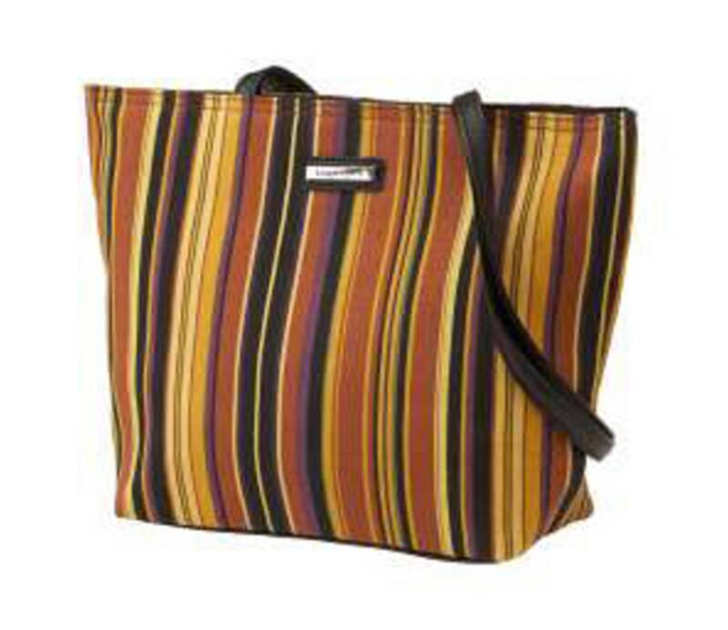 Longaberger FABRIC TOTE / PURSE - Autumn Stripe - NEW - Orig. $18 - Pretty & NEW