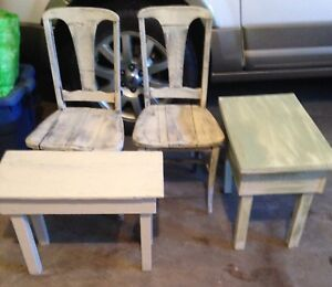 Vintage chairs benches