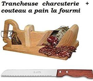 trancheuse guillotine saucisson charcuterie et son couteau a pain ebay. Black Bedroom Furniture Sets. Home Design Ideas