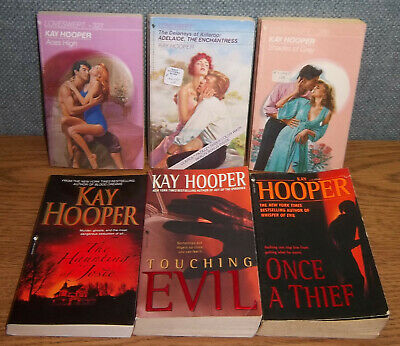 LOT 6 Kay Hooper SHADES OF GRAY ACES HIGH TOUCHING EVIL ONCE A THIEF (Thieves Sunglasses)