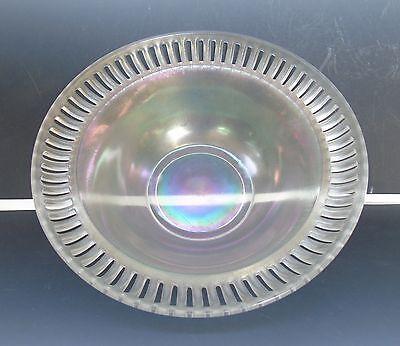 Antique US Glass/Tiffin #8076 Flared Raised Rim Stretch Glass Bowl Iridescent