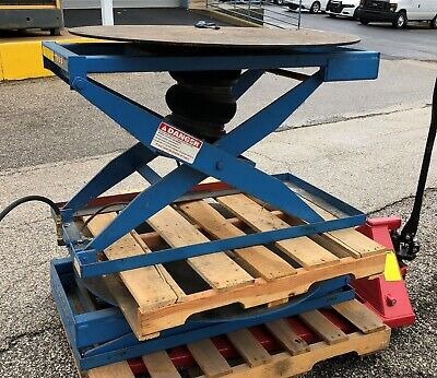 Lee Engineering Presto Al30 3000lb Rotating Pnuematic Lift Table 43 Deck
