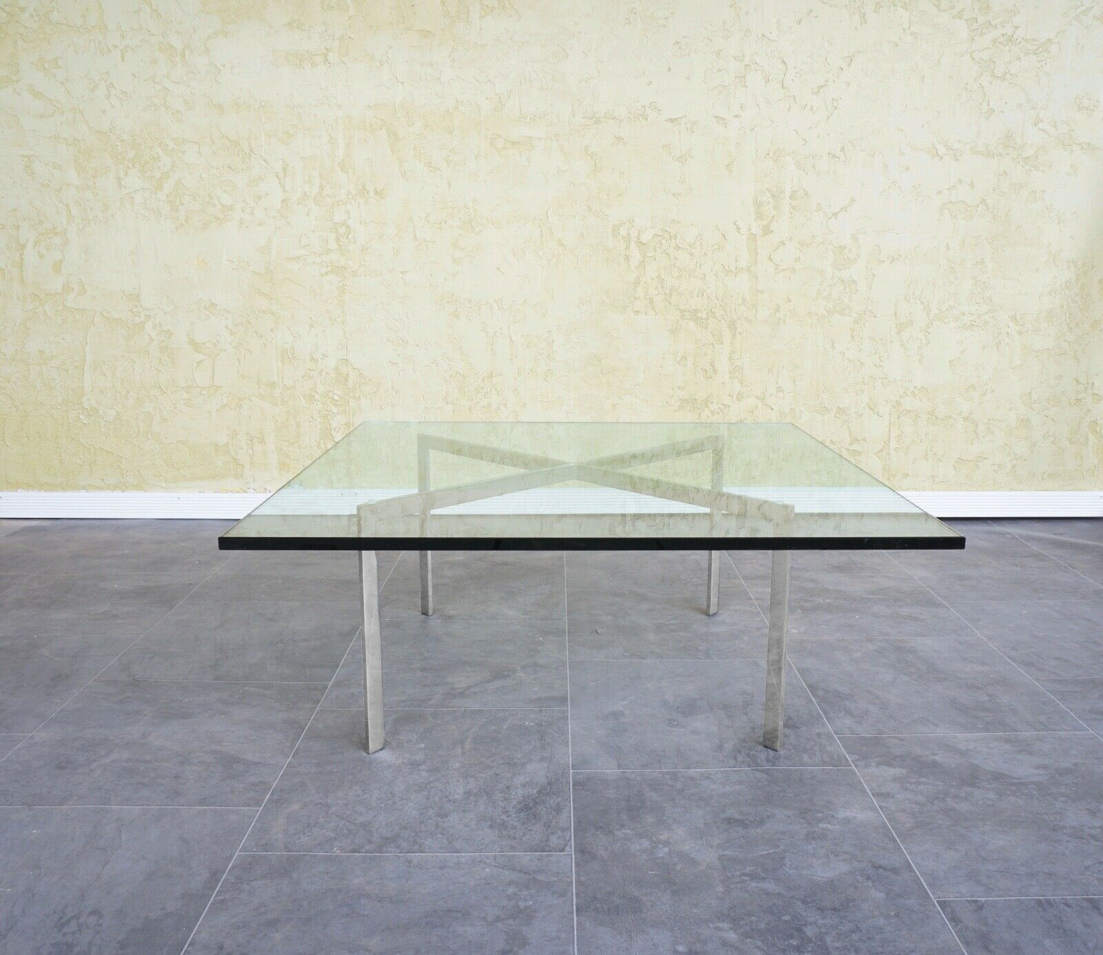 Modernist Barcelona Coffee Table By Mies Van Der Rohe - $1,070.00