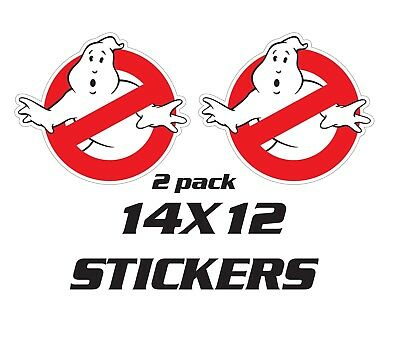 Interesting Home Decorating Ideas 2 STICKERS ECTO 1 GHOSTBUSTERS CAR REPLICA GHOSTBUSTER DECALS Home Decor Sheffield