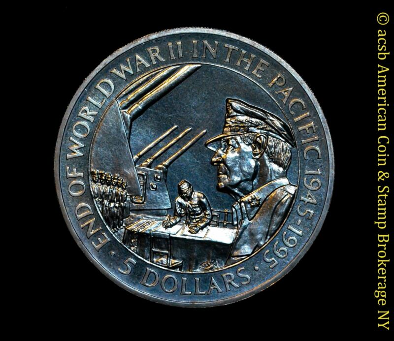 Solomon Islands $5 Dollars 1995 UNC BU KM# 54 MacArthur End WWII Pacific