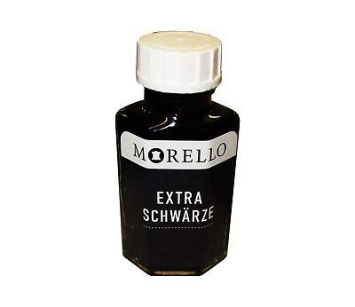 Glattleder Einziehfarbe - Lederfarbe Morello Extra Schwärze schwarz matt 50 ml.