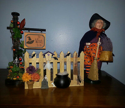 Halloween Sign Post (#16 Halloween Sign Post, Picket Fence & Byers Choice Witch ~ A Wonderful)