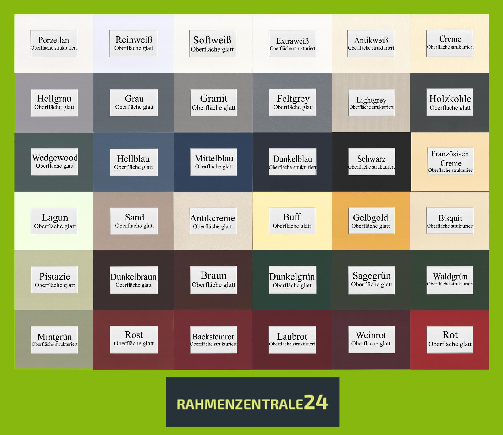 Passepartout nach Maß, 36 Farben, 1,4 mm , säurefrei bis 40 x 50 cm