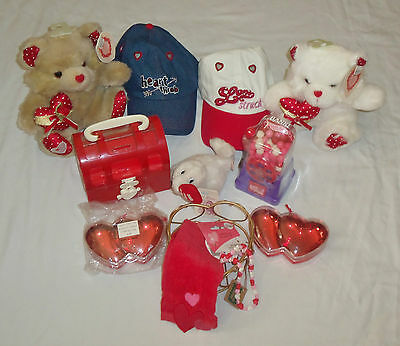 Huge Lot Valentines Day Stuffed Plush Bear Toy Hat Hearts Gifts Gumball Machcine (Valentines Day Hat)