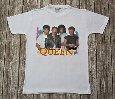 QUEEN Official Vintage 1985 Concert Tour T-Shirt Freddie Mercury Small