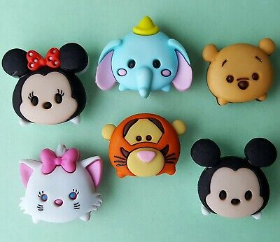 TSUM TSUM Disney Minnie Mickey Mouse Pooh Tigger Dumbo Dress It Up Craft Buttons