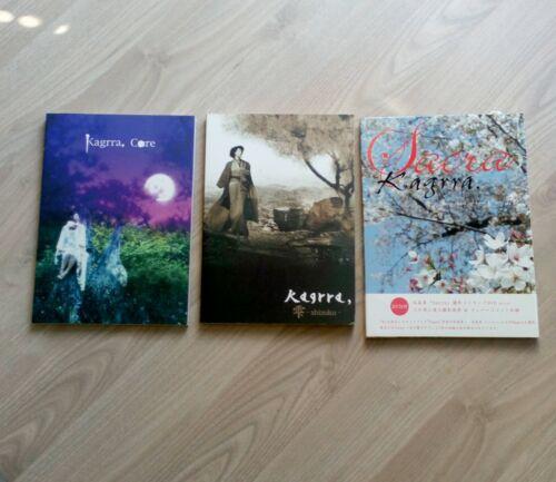Kagrra - 3 Books - Isshi akiya shin visual kei j-rock jrock