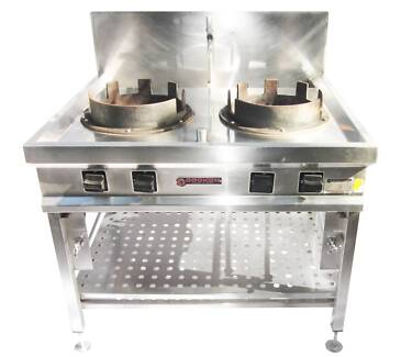 Commercial Dual Wok Burner Banyo Brisbane North East Preview