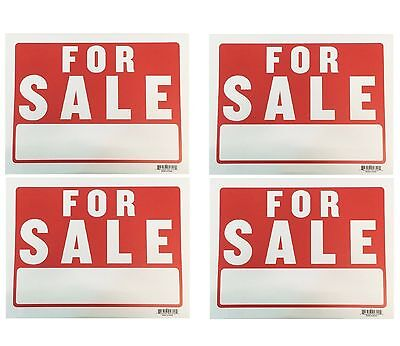 4 Sign - For Sale - Plastic Size 9x12 4pcs