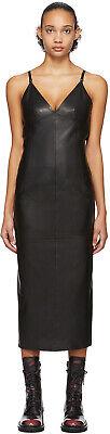 Yang Li Fitted 'Lingerie' Midi Dress, Black Napa Leather, Size 38