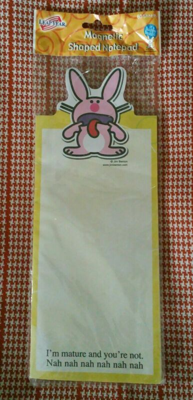 NEW Unused 2007 Jim Benton HAPPY BUNNY Magnetic Notepad